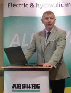 Simon Wrighton, Sales Manager at ARBURG UK