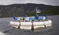 Scale model (1:9) undergoing trials in Loch Ness in 2010