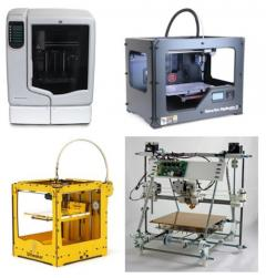 A selection of 3D printers available at MAKLab