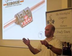 Ross Dickinson, MD of Kibosh Ltd, explaining the Rothenberger Kibosh Emergency Pipe Repair